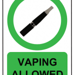 Vaping Allowed Banner