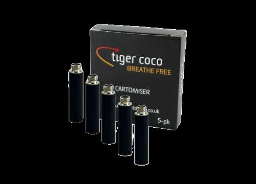 Tiger Coco – Super E Cigarette Cartomisers – Pack of 5